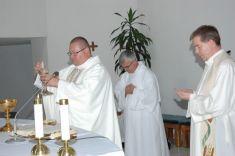 Slávenie svätej omše pri príležitosti 760.výročia osláv obce Geča