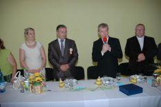 Mons. JCDr. Juraj Kamas predniesol naslávnostnom obede, naktorom boli ocenení vybraní občania obce krátky príhovor